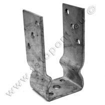 Oszloptalp S-U forma 121 mm horganyzott lecsavarozható